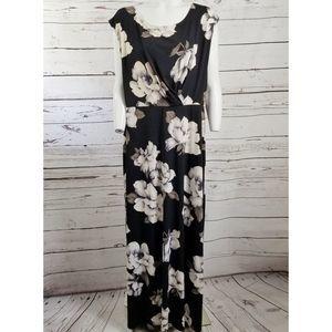 GILLI MAXI DRESS black & tan FLORAL size XL